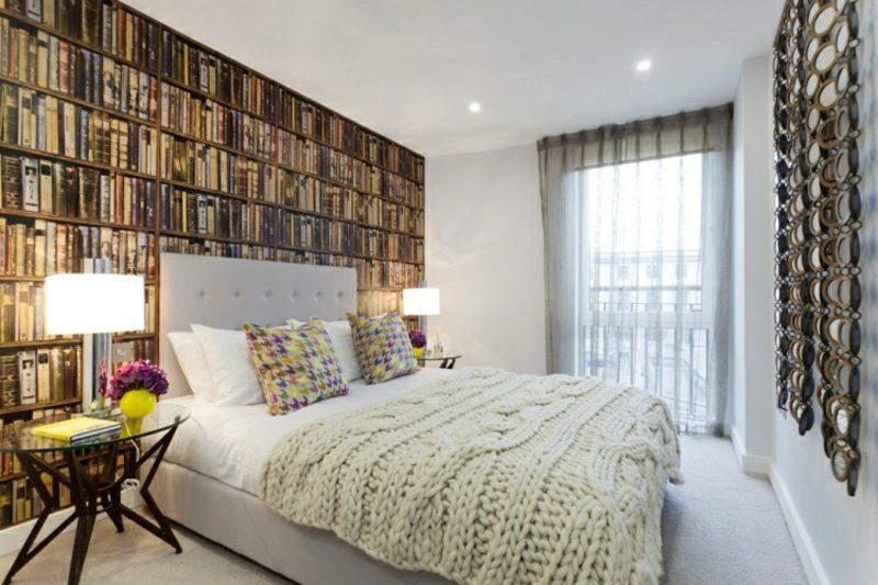 wandgestaltung Ideen tolle Fototapete Schlafzimmer