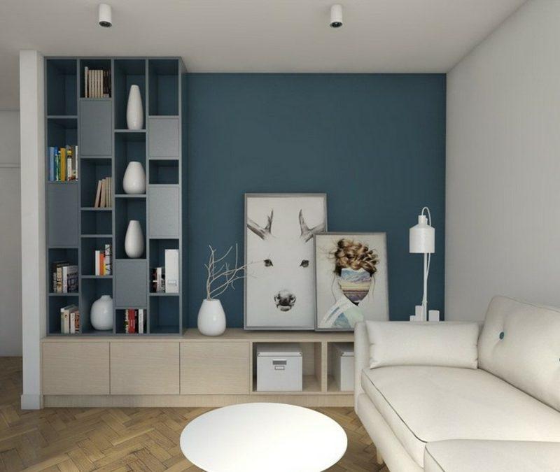 Wandgestaltung wohnzimmer akzentwand streichen