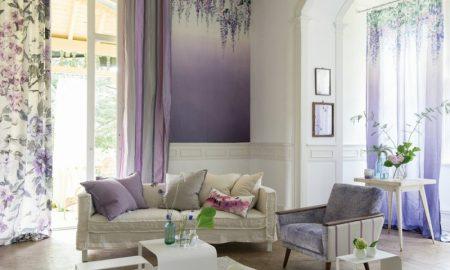 Wohnzimmer Wand Tapeten Ombre Effekt
