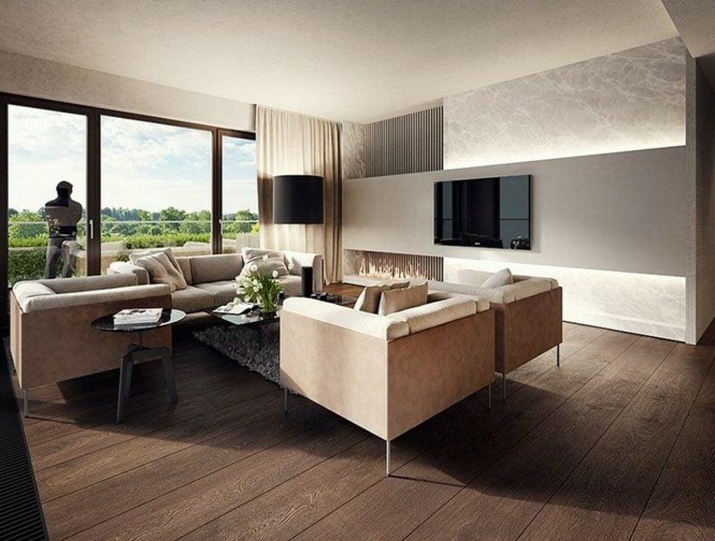 Wohnzimmer Ideen Wandgestaltung modern