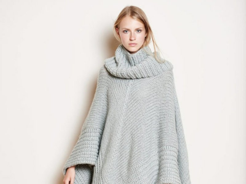 Poncho stricken Damen Wintermode