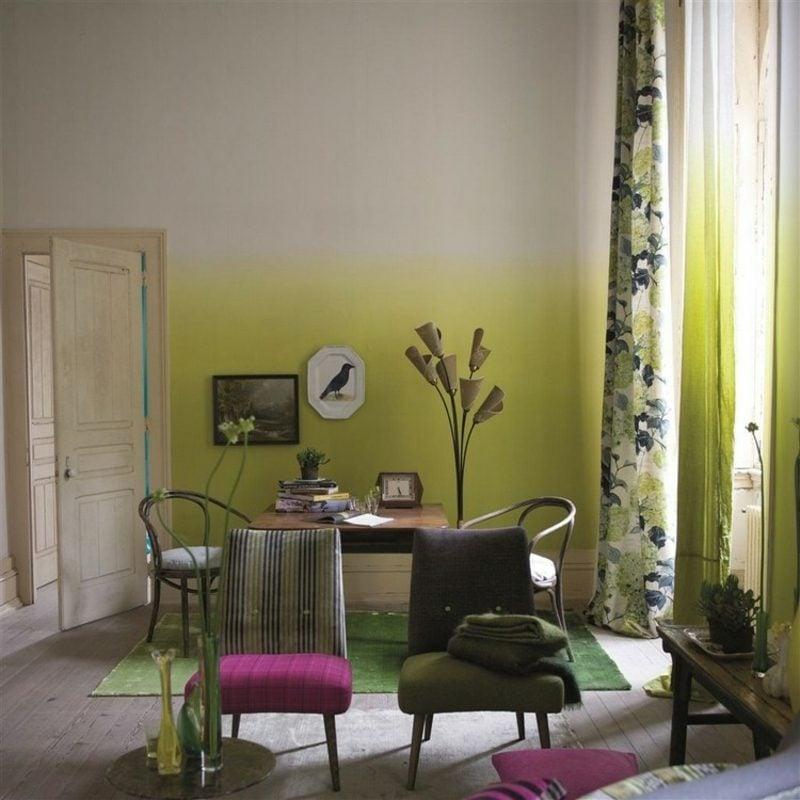 Wandgestaltung Ideen selber machen Wohnzimmer