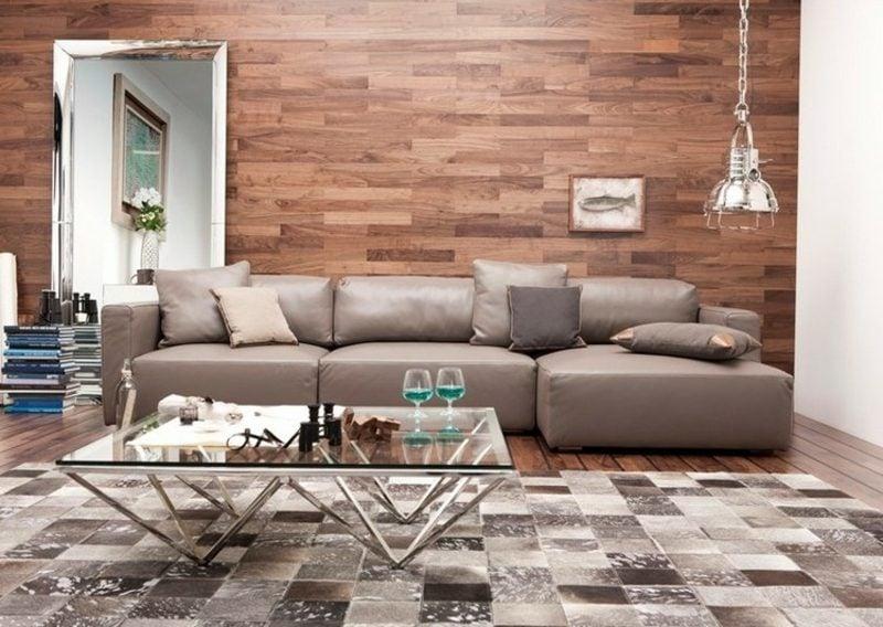 Wohnzimmer Wand Verkleidung Holz