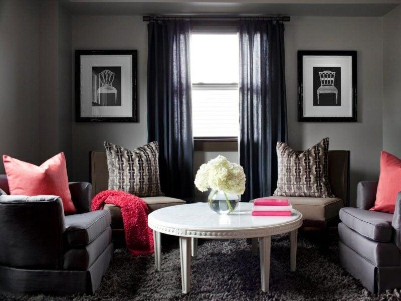 Wohnzimmer grau wohnliches Ambiente