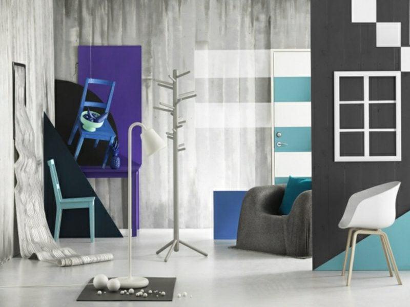 Grautöne Wandgestaltung gelungene Farbkombinationen