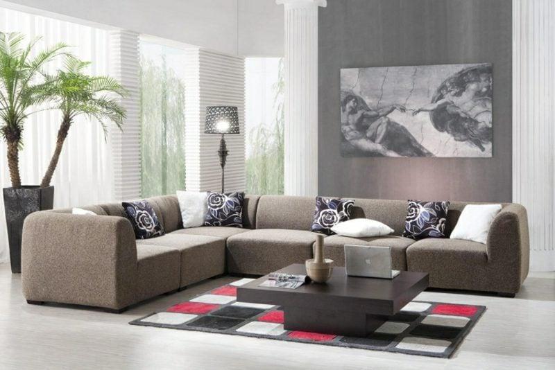 Wohnzimmer Grau Wandgestaltung