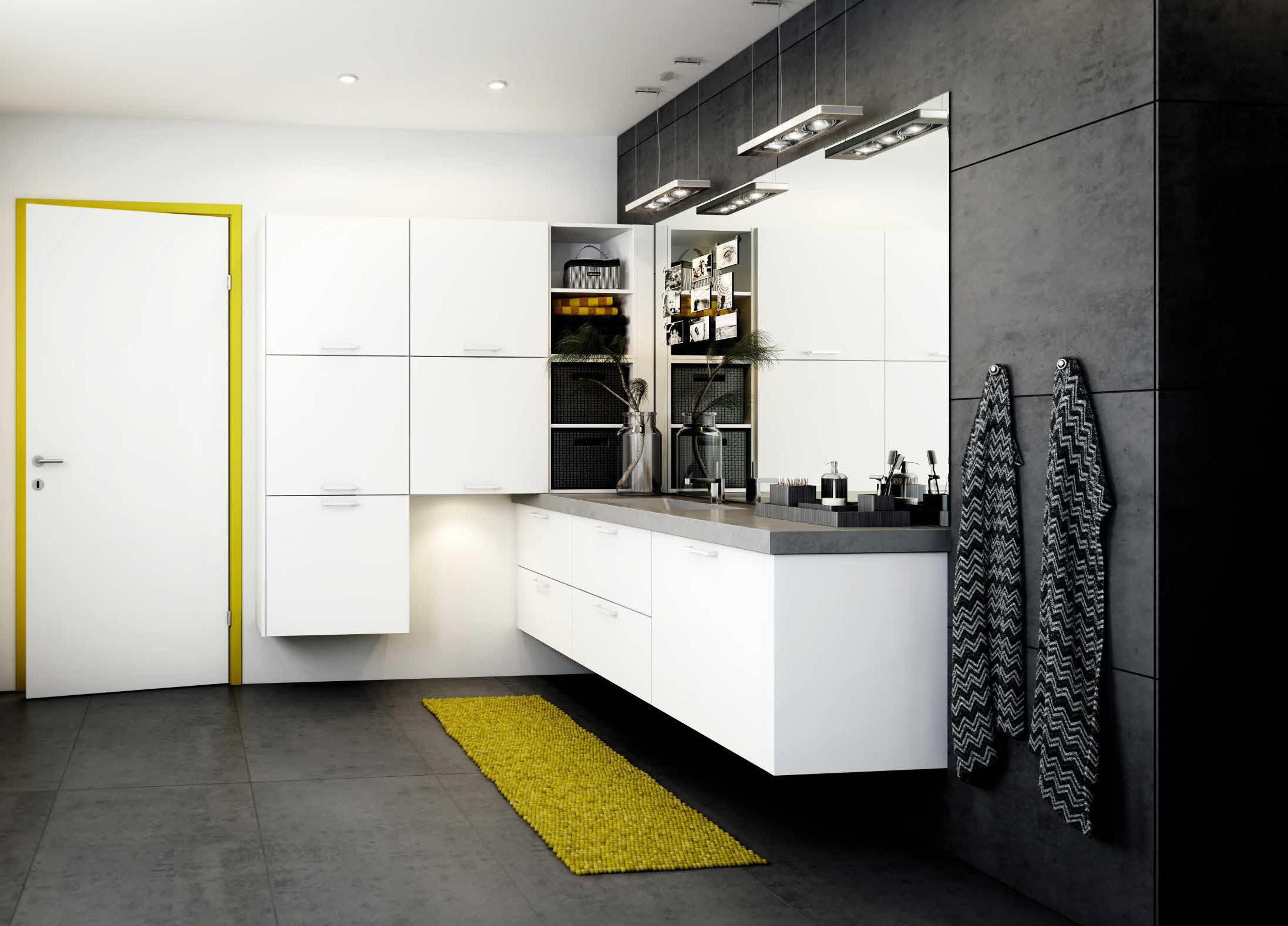 ollen Sie ein Industrial-Stil beim Einrichten von Ihrem Bad verfolgen, kombinieren Sie Beton, Leder und Edelstein