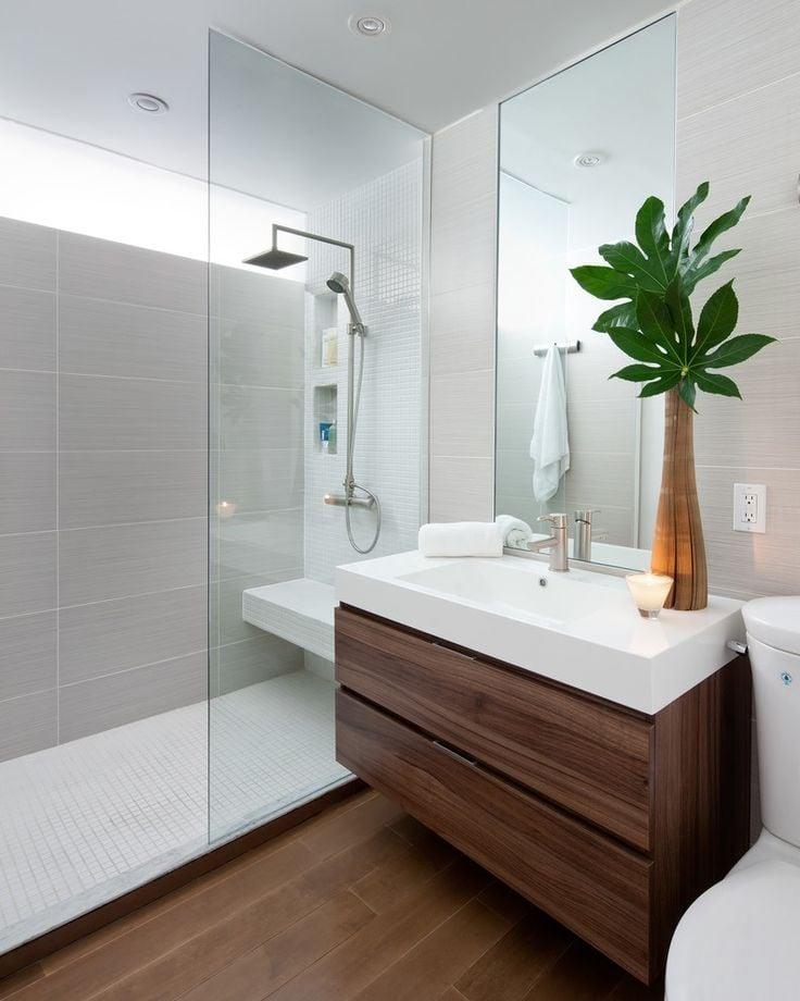 Holz, Holz und wieder Holz - Ihr Bad sieht nicht so schön, wie mit ein bisschen Holz, aus