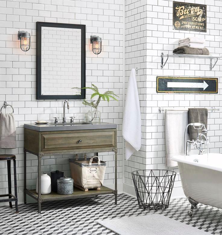 Die perfekte Badezimmer Deko für Ihr Bad in Industrial Look