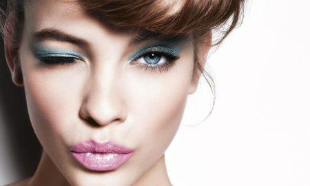 Blaue Augen Make Up