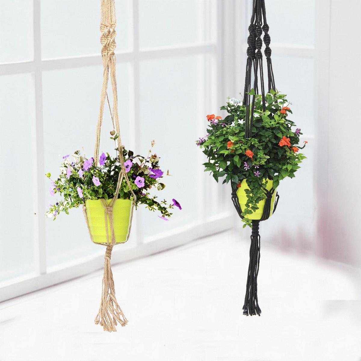 Blumenampel in verschiedenen Farben