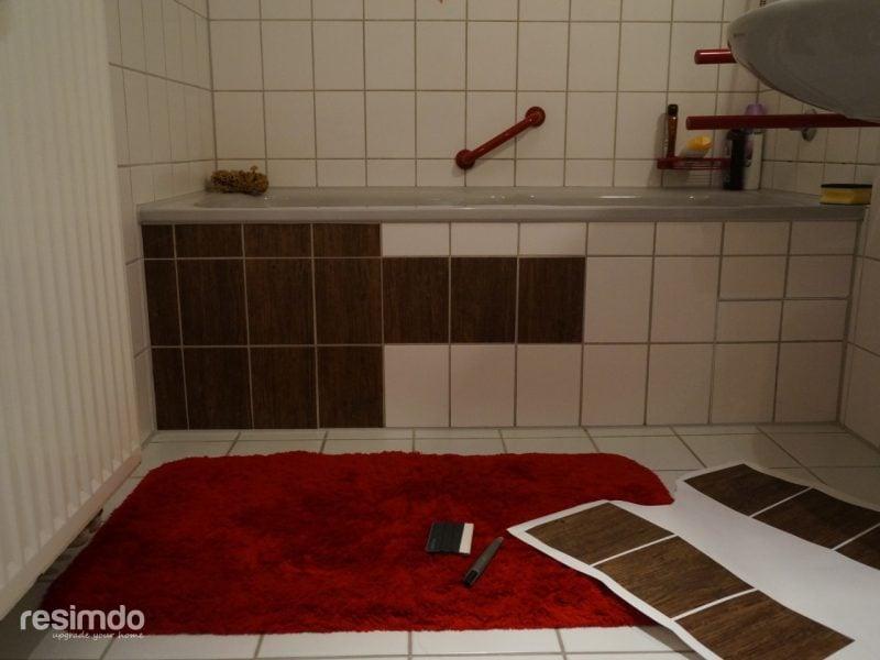 Fliesen Badezimmer überkleben wie geht es