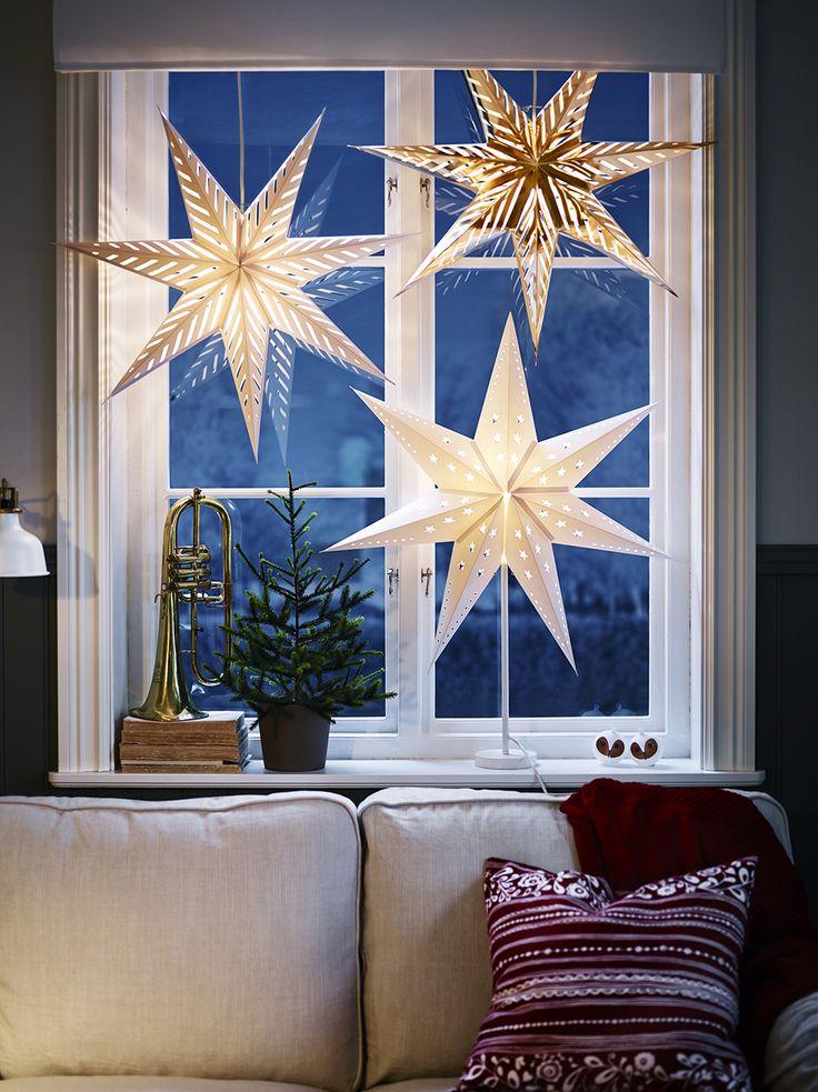 Die Sterne als eine tolle Idee für Fensterdeko hängend oder stehend