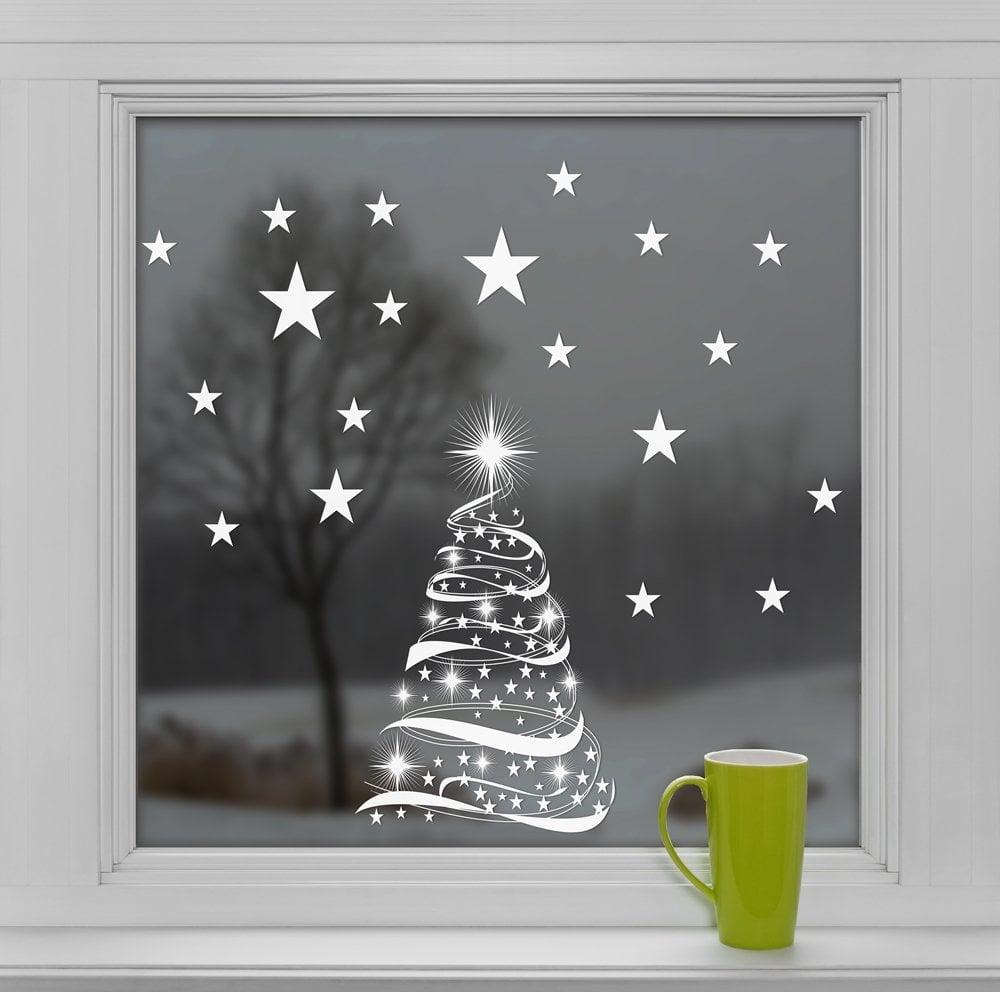 Viele tolle Idee für Fenster Deko mit Aufklebern