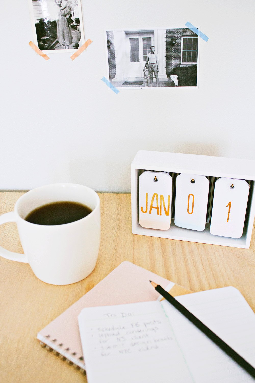 Ein moderner Flip- Kalender selbst gestalten