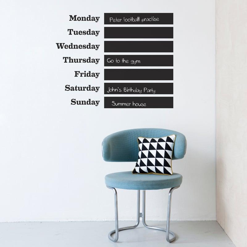 Ideen für einen praktischen Wandkalender 2017 /2018