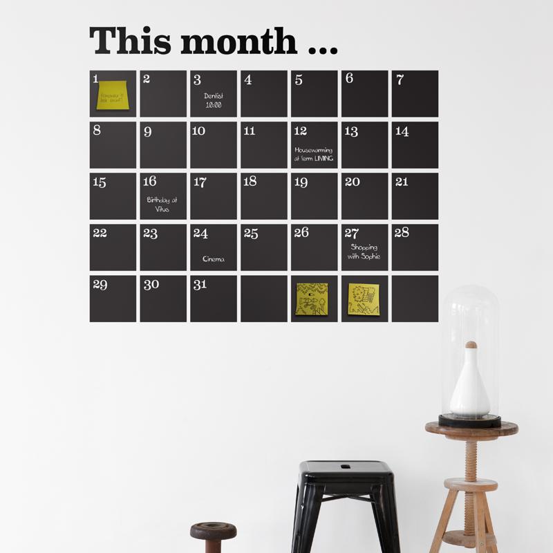 Außergewöhnliche Ideen für einen Wandkalender 2017 / 2018