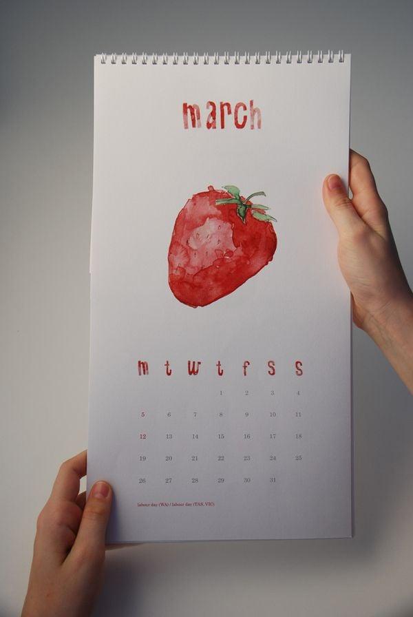 Ideen für einen XXL Poster als einen Kalender an der Wand