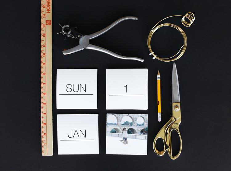 Die notwendige Materialien für einen Fotokalender selbst Gestalten