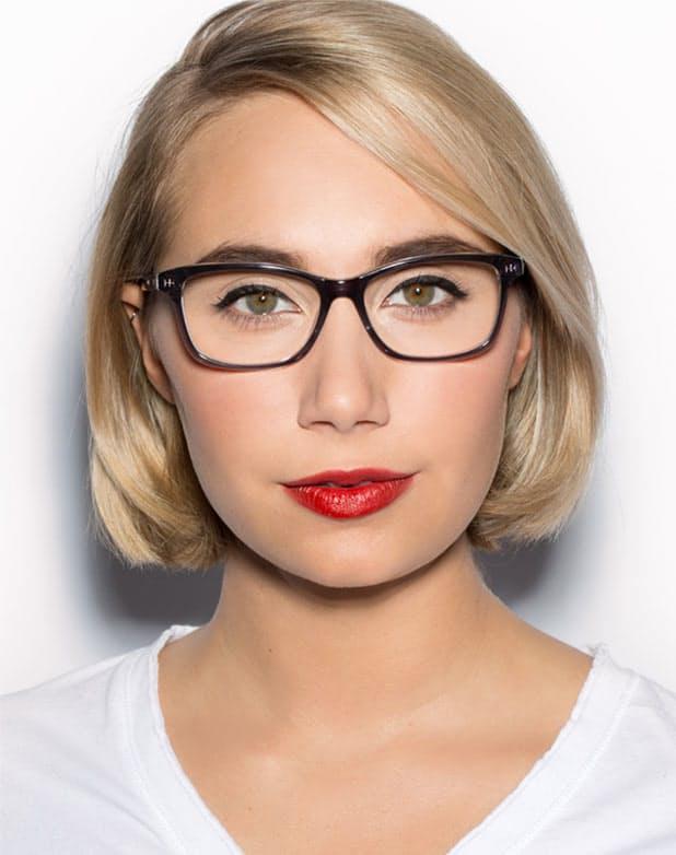 Freche Frisuren für Brillenträgerinnen