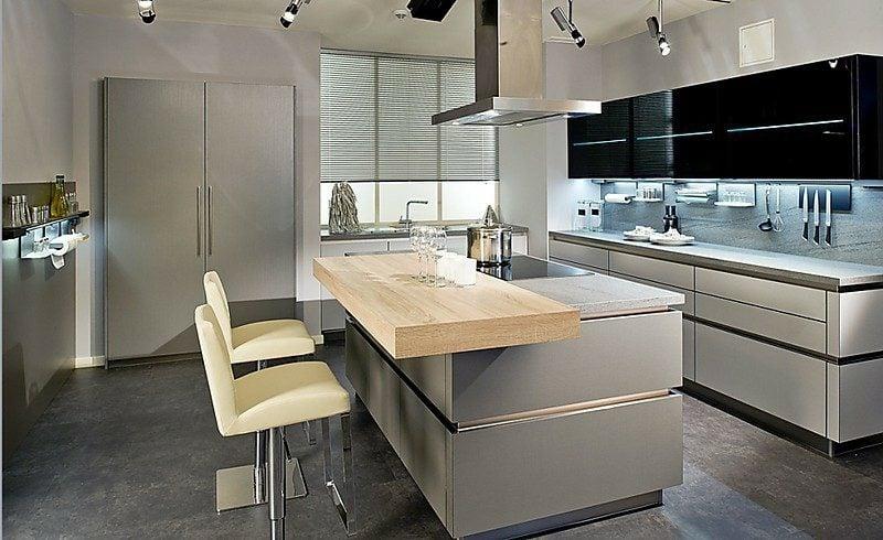 Küche grau Wandfarben Ideen