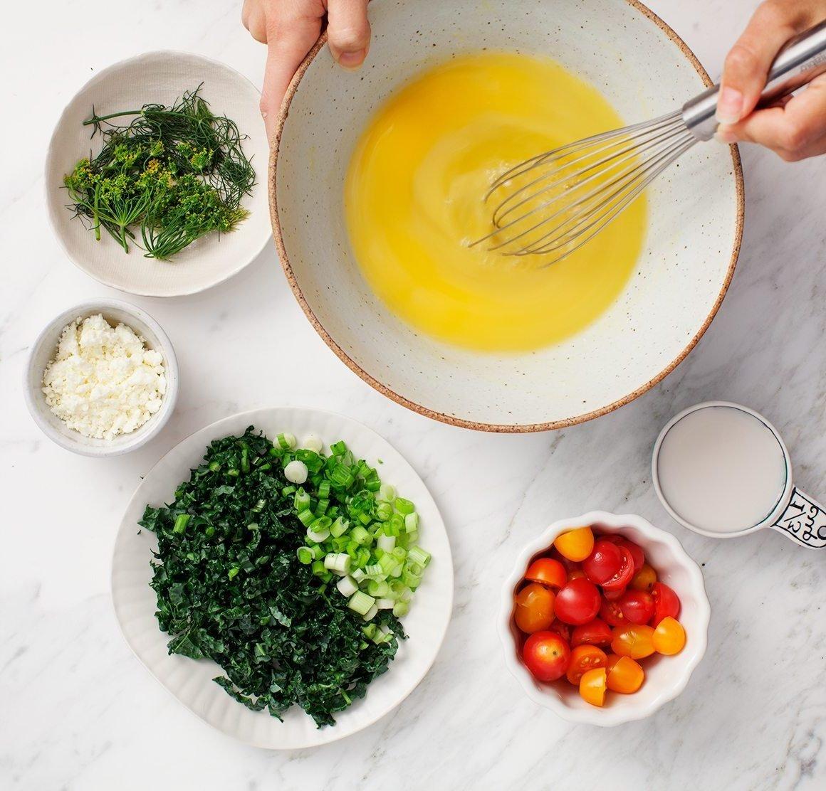 Viele Proteine verhindern den Heißhunger - Rezept für deftige leckere Eier-Muffins