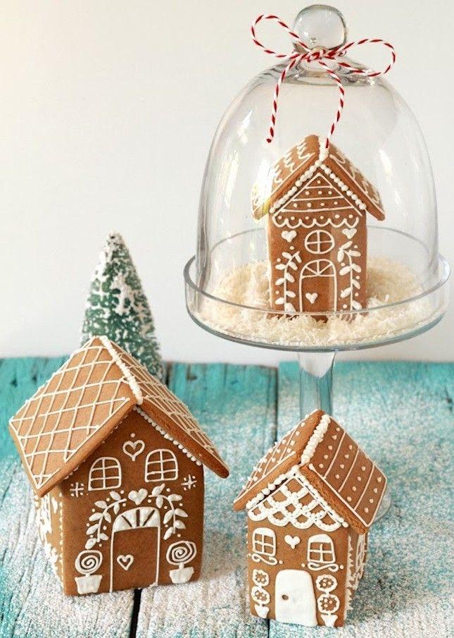 Die außergewöhnliche Weihnachtsdekoration kommt mit Hilfe des Lebkuchens
