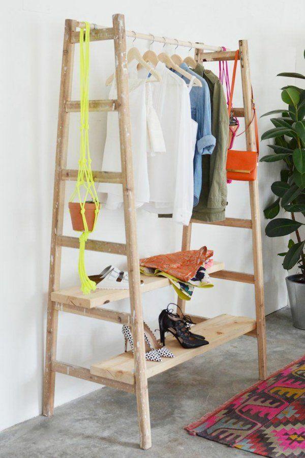 Upcycling Leiter-Garderobe selber bauen