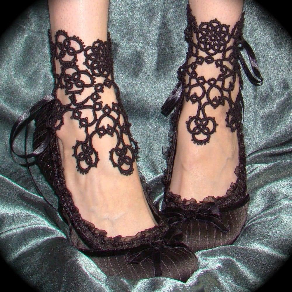 Makramee-Schuhe mal anders