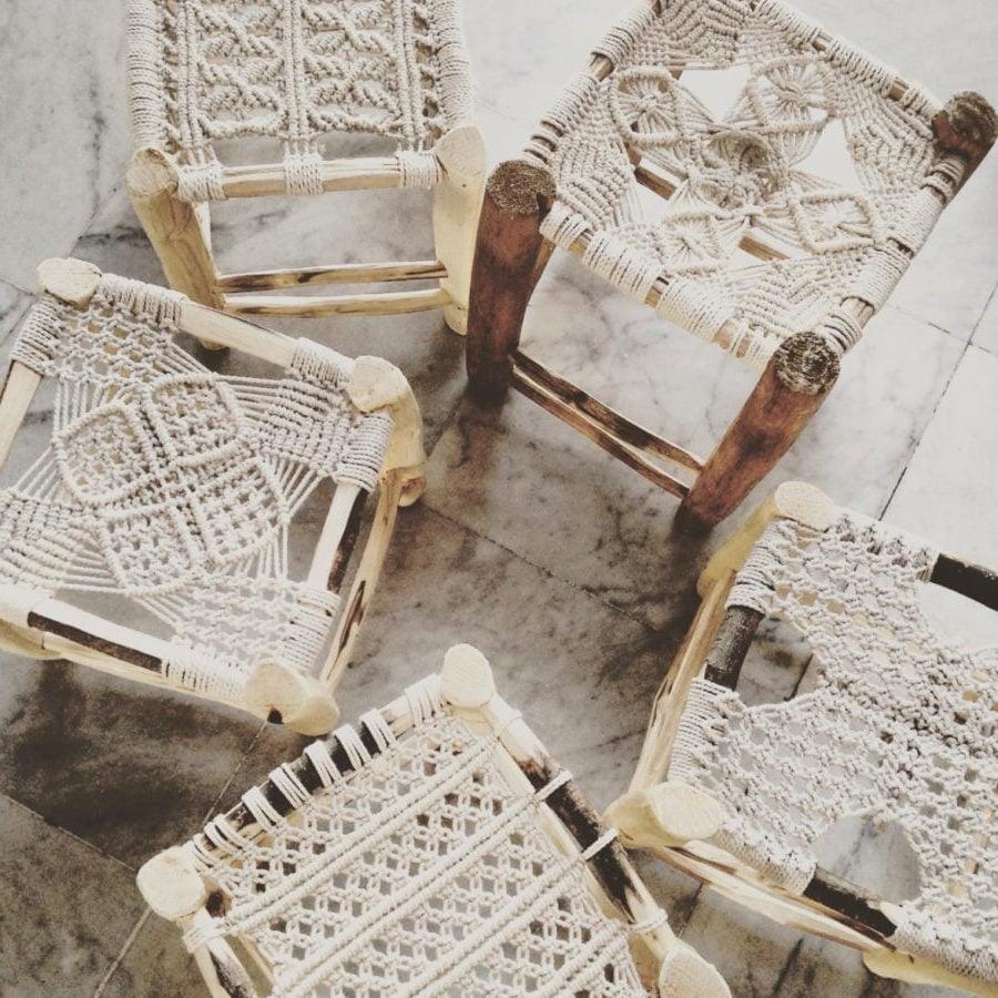 Makramee-Stühle - ein hauch Orient