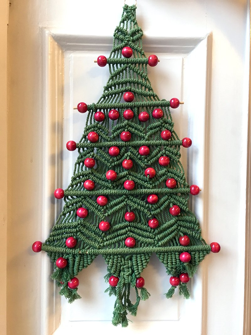 Makramee-Weihnachtsbaum