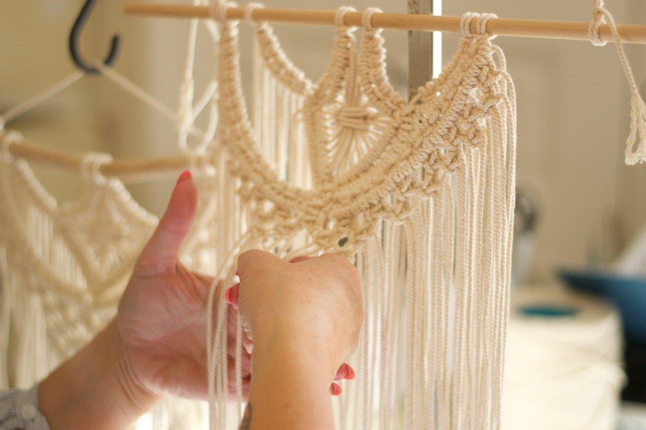 Vorhang makramee