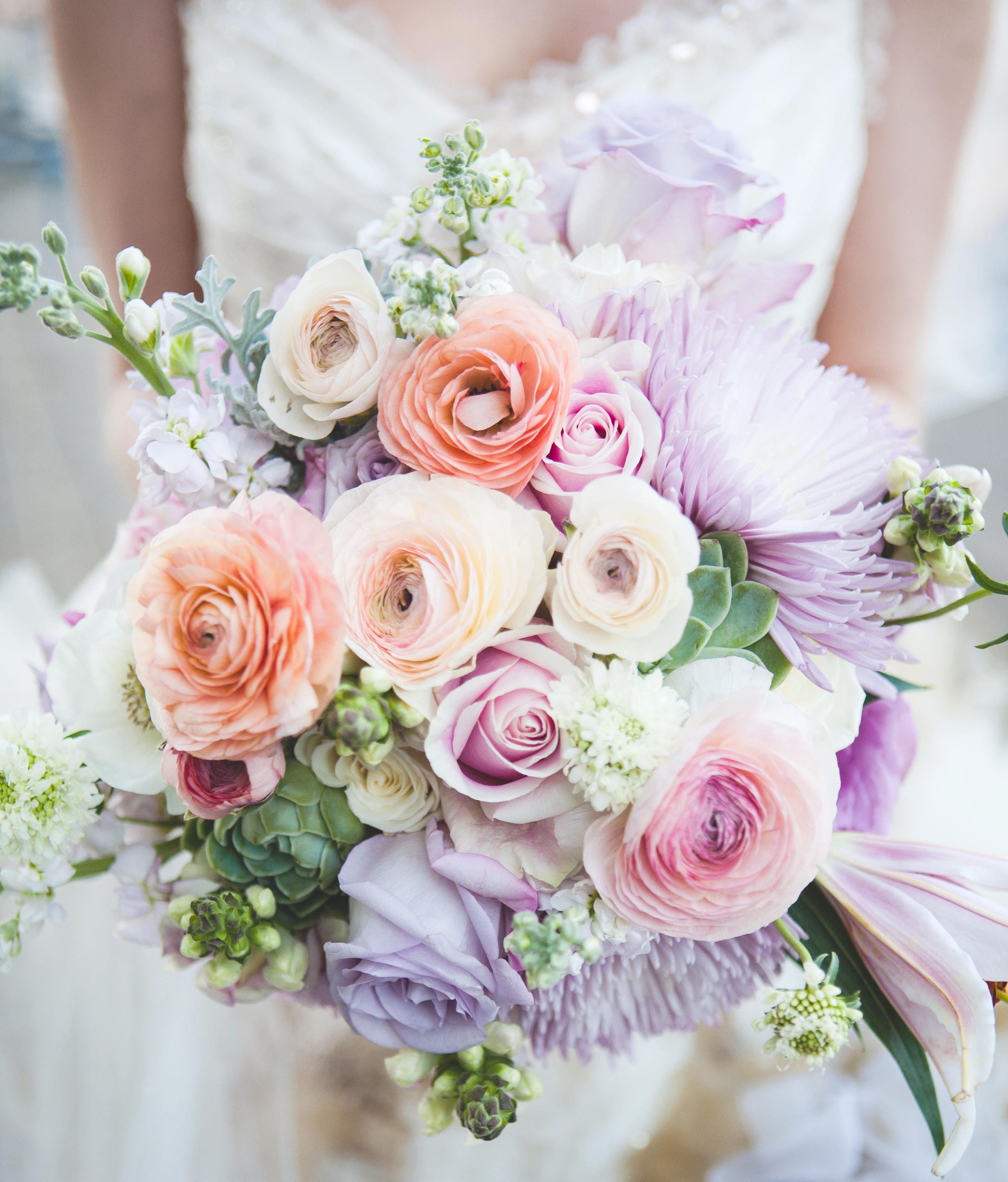Der Brautstrauß Ihren Träumen ist in Pastellfarben