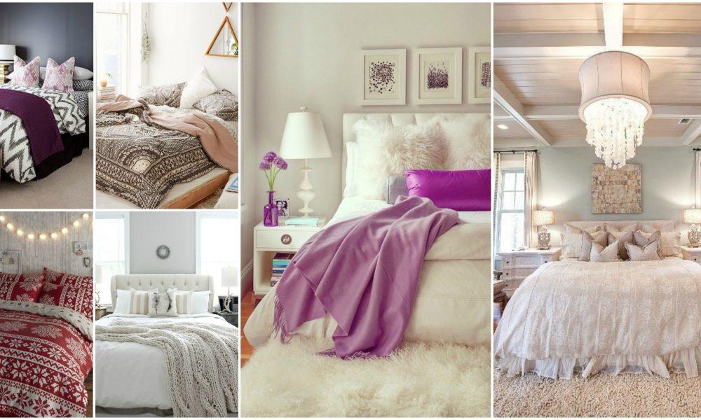 Schlafzimmer modern mit Fell dekorieren