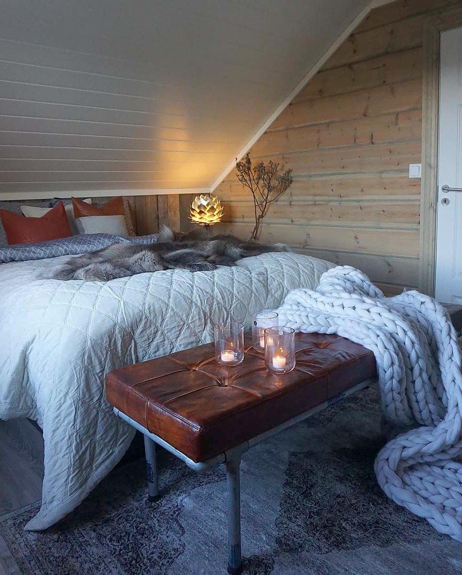 Schlafzimmer modern mit Fell einrichten