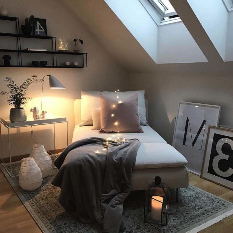 Mit Fell dekorieren um Schlafzimmer modern zu gestalten