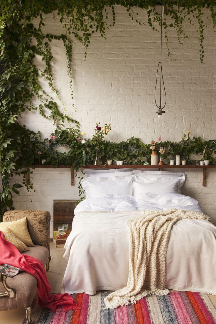 Grün im Schlafzimmer - das peppt das ganze Atmosphäre ein