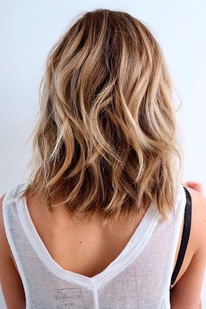 Einfache Styling und keine besondere Pflege - schulterlange Haare