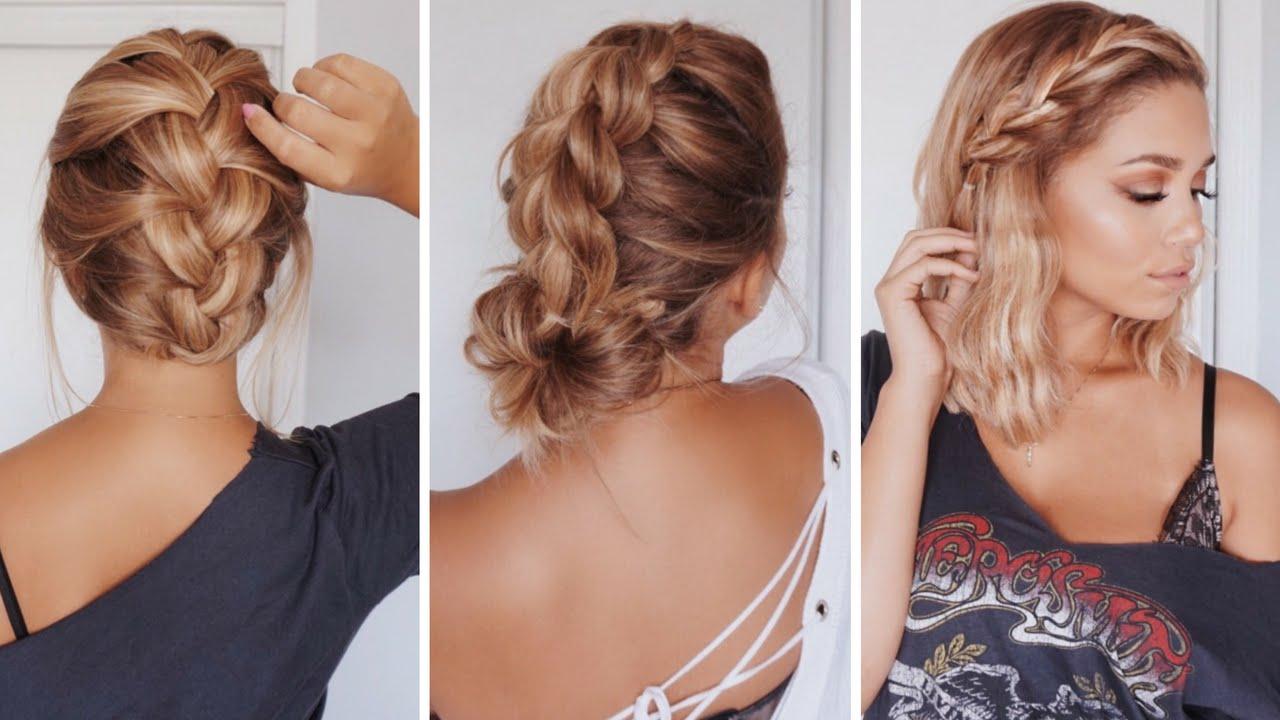 1, 2, 3 und zum Ball - einfache Frisuren für schulterlange Haare