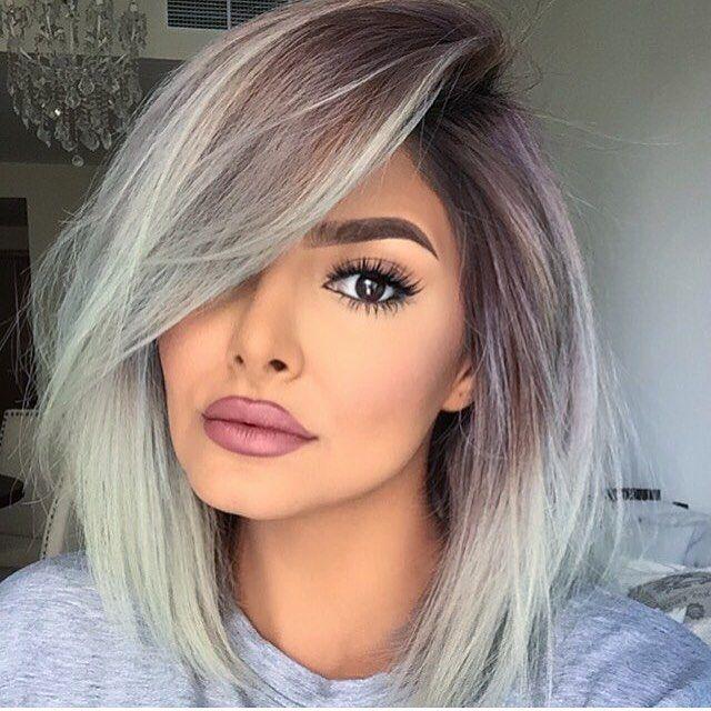 Ideen für schulterlange Haare Blond Ombre