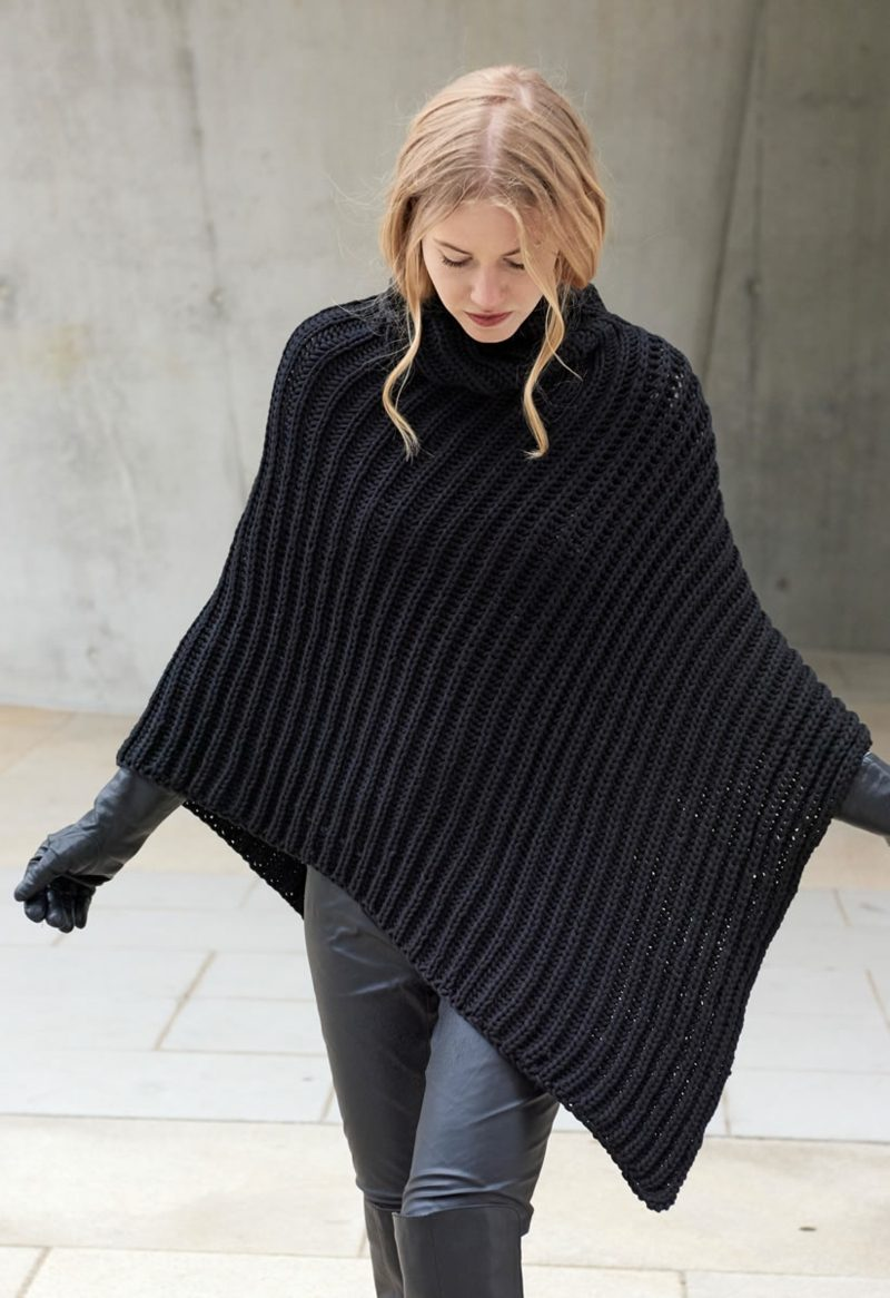 Stricken Schal Poncho tolle Ideen Winter
