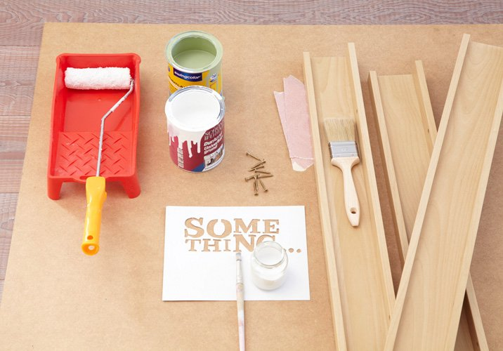 Die notwendigen Materialien für Möbel in Shabby Chic selber Machen