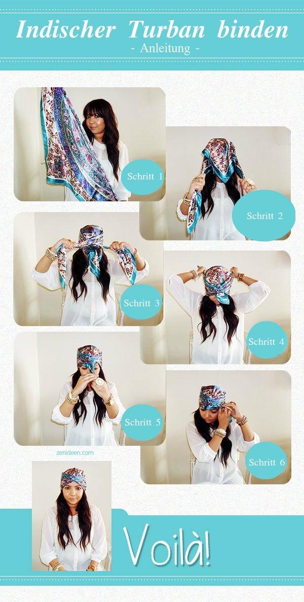 Zunächst möchten wir Ihnen erklären, wie ein indischer Turban binden kann.