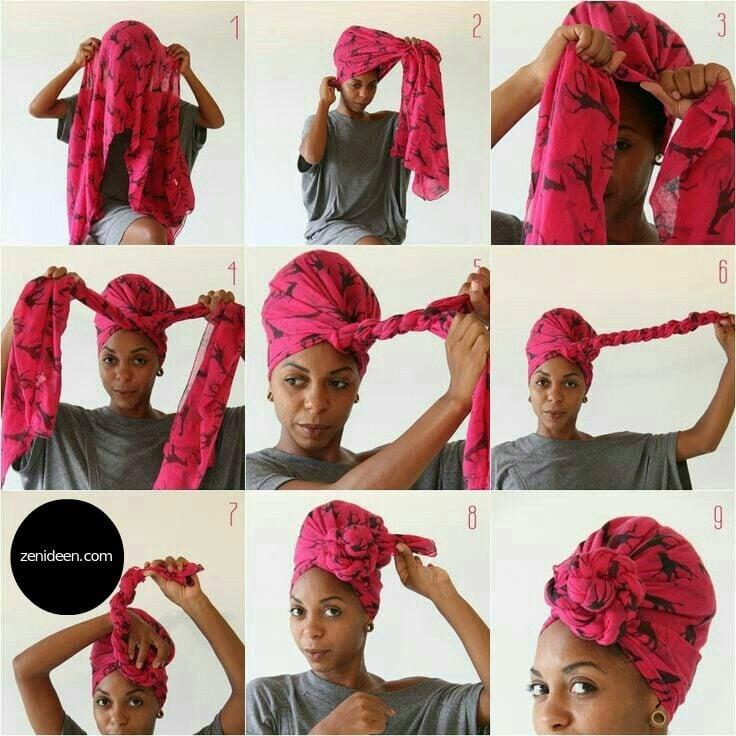 Zuerst wollten wir Ihnen zeigen, wie ein afrikanistischer Turban binden kann