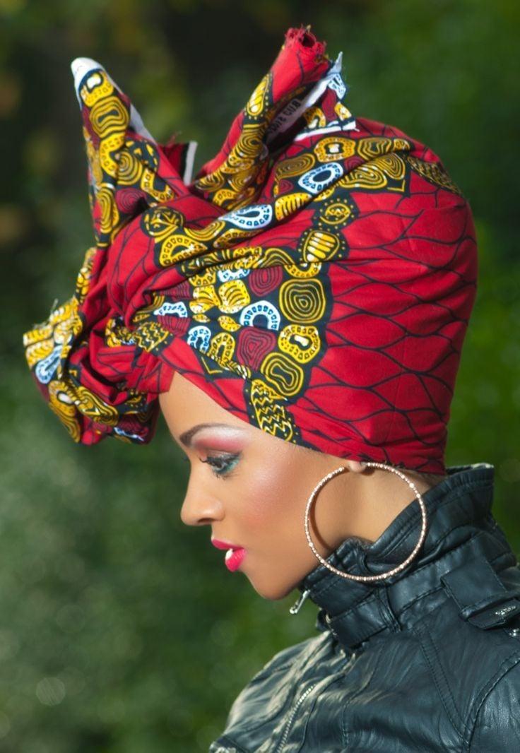 Afrikanischer Turban Binden in 8 Schritte - lesen Sie hier