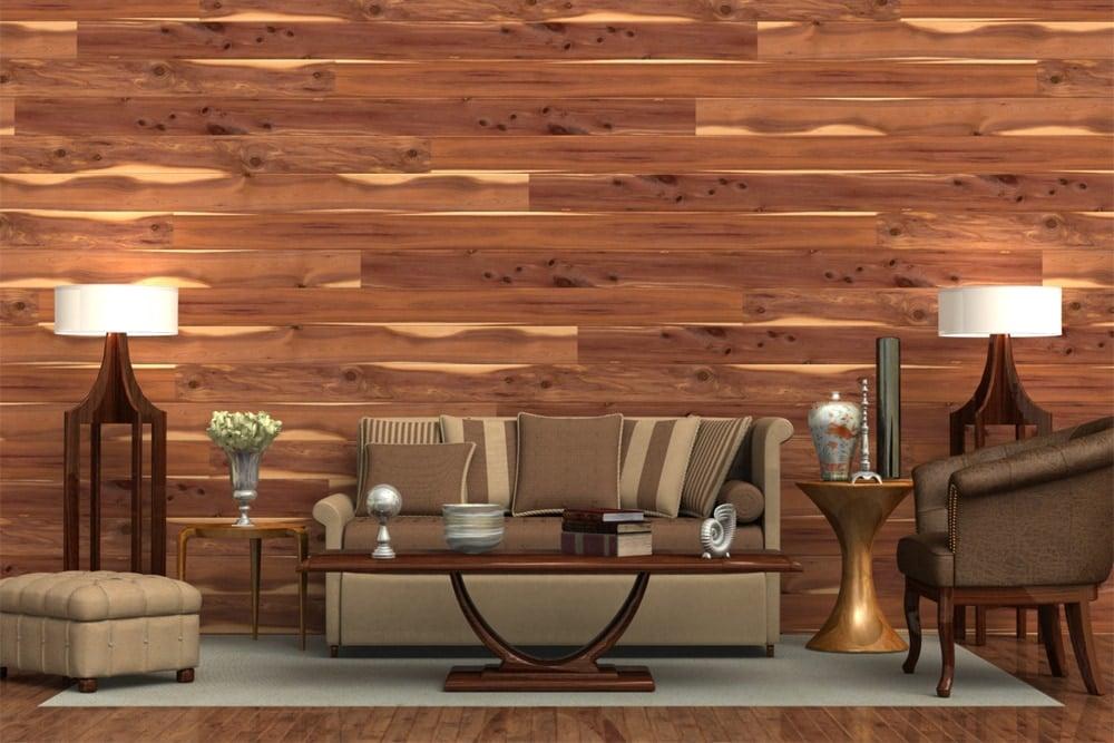 Wandverkleidung Holz - die beste Idee für Ihr Wohnzimmer Gestaltung