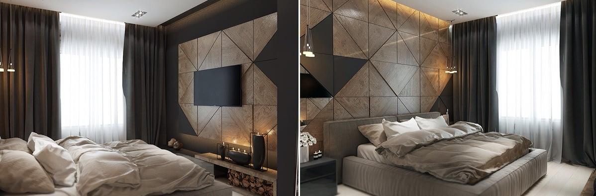 ie Wandplatten aus Holz gelten auch als eine schöne Zierde im Schlafzimmer.