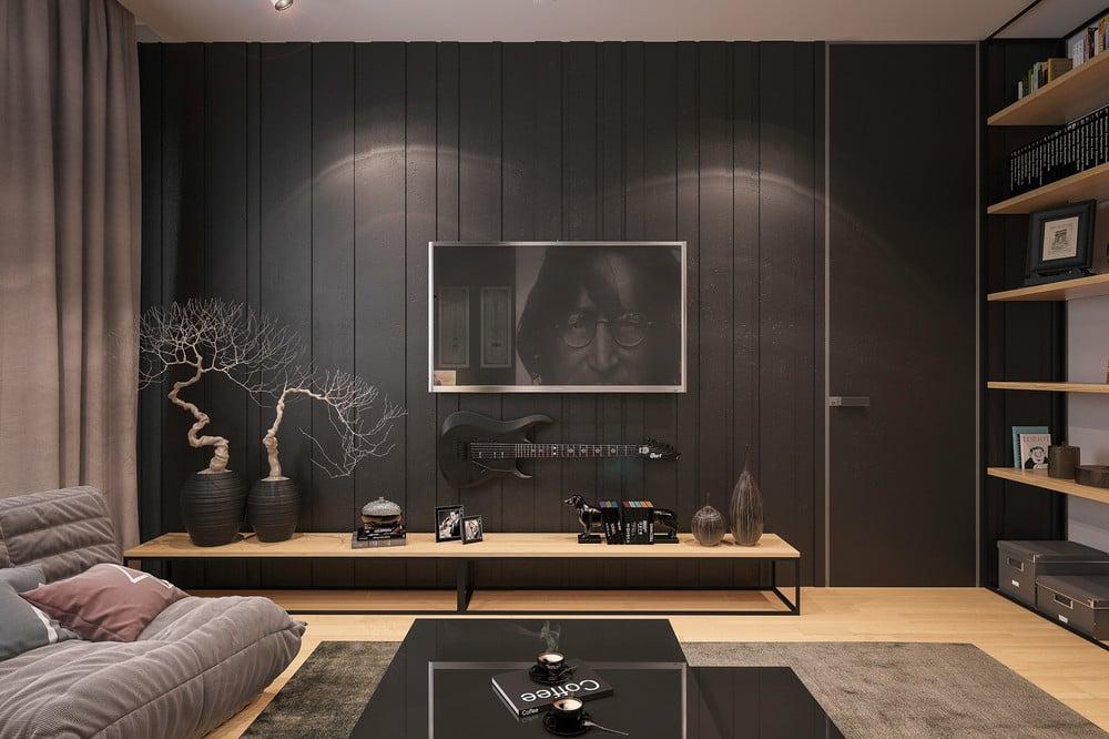 Wandverkleidung mit Tapeten - schöne Alternative für Wandverkleidung im Wohnzimmer
