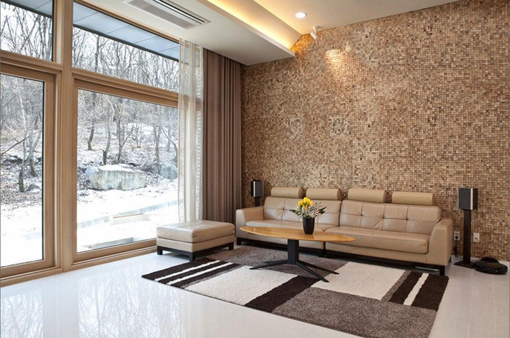Die Fließen sind nicht nur eine Alternative für Wandverkleidung Bad,sondern für Wohnzimmer auch!