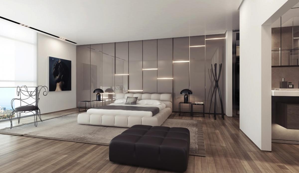 Wandverkleidung und Beleuchtung für Schlafzimmer finden Sie in unserem Handbuch zu diesem Thema